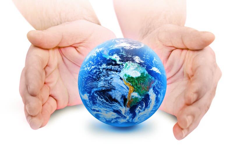 O mundo em sua mão ilustração stock
