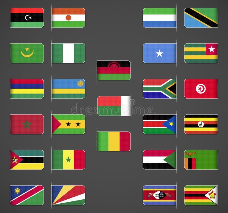 O mundo embandeira a coleção, África, parte 2 ilustração stock
