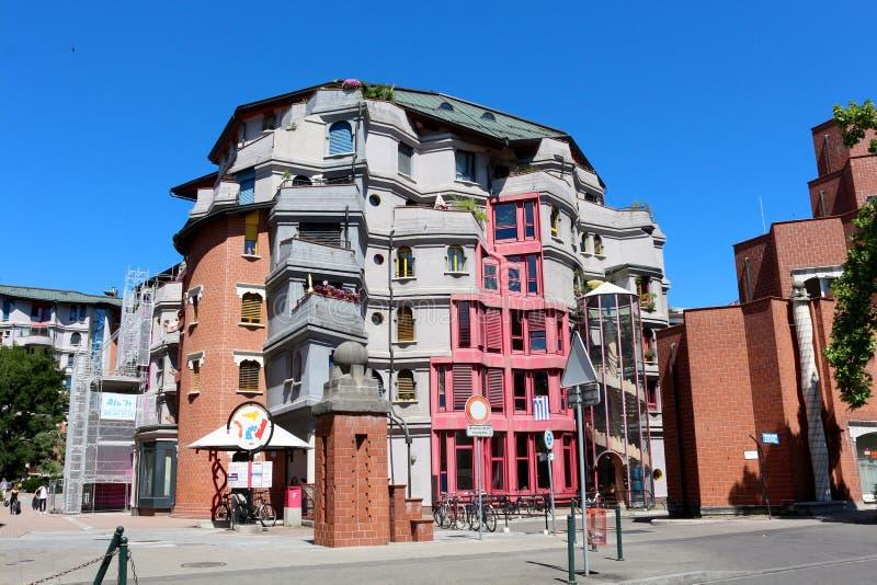 O mundo imaginário de Smurfs, Genebra, Suíça imagem de stock