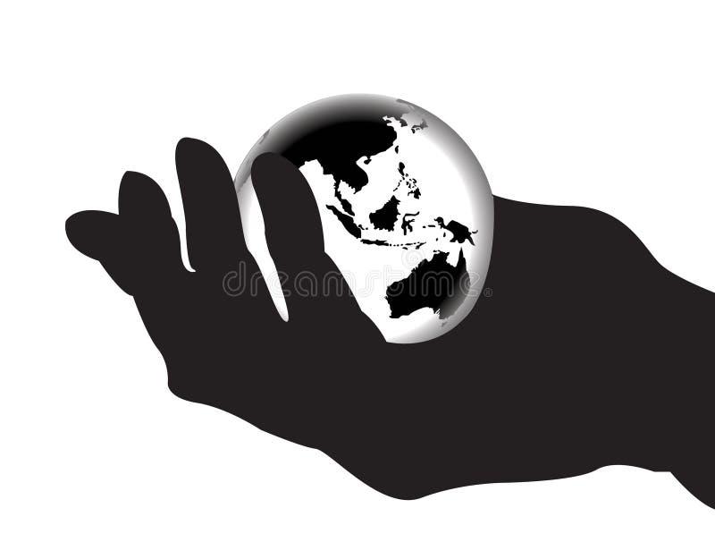 O mundo inteiro em minhas mãos 1 ilustração royalty free