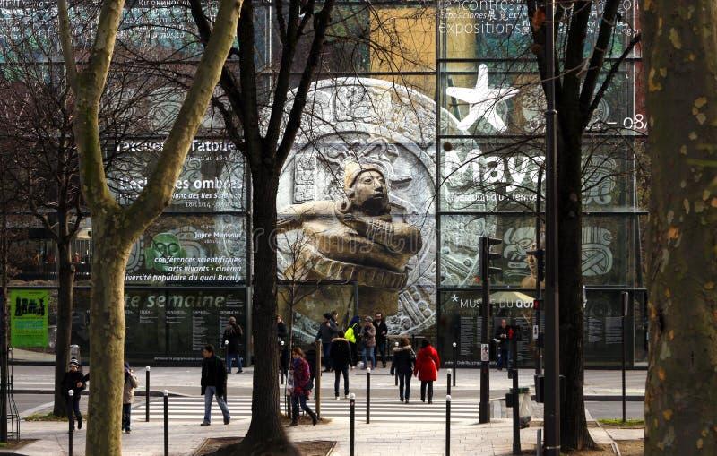 O Musée du quai Branly em Paris imagem de stock