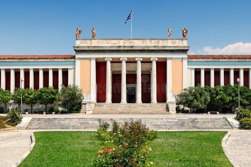 O museu arqueológico nacional de Atenas, Grécia fotografia de stock royalty free