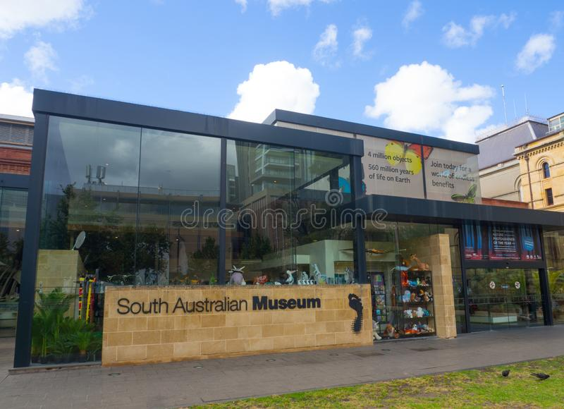 O museu australiano sul é um museu da história natural e uma instituição de pesquisa em Adelaide, Sul da Austrália, fundado em 18 fotografia de stock royalty free