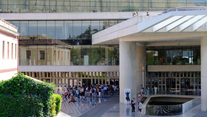 O museu da acrópole, Makrigianni, Atenas, Grécia imagens de stock royalty free