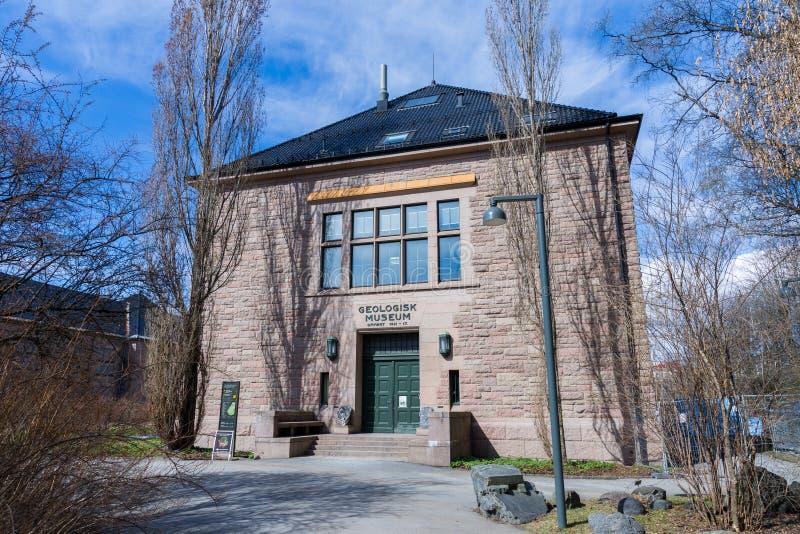 O museu da história natural na universidade de Oslo é o ` s de Noruega foto de stock