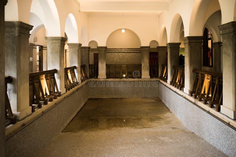 O museu da mola quente de Beitou fotos de stock