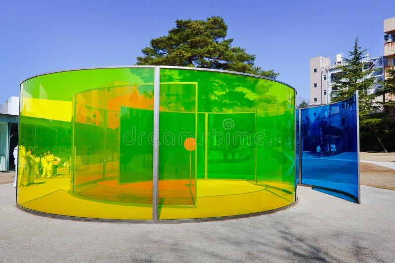 O museu de arte contemporânea do século XXI foto de stock royalty free