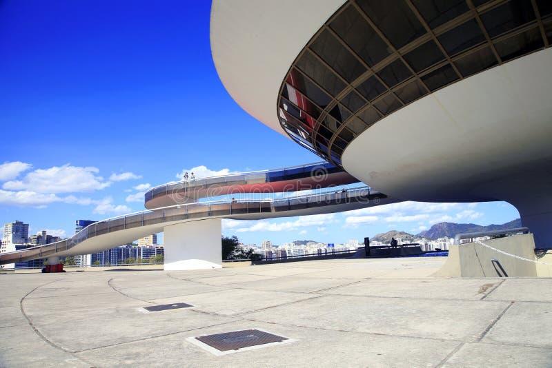 O museu de arte contemporânea, Niteroi, RJ, Brasil imagens de stock royalty free