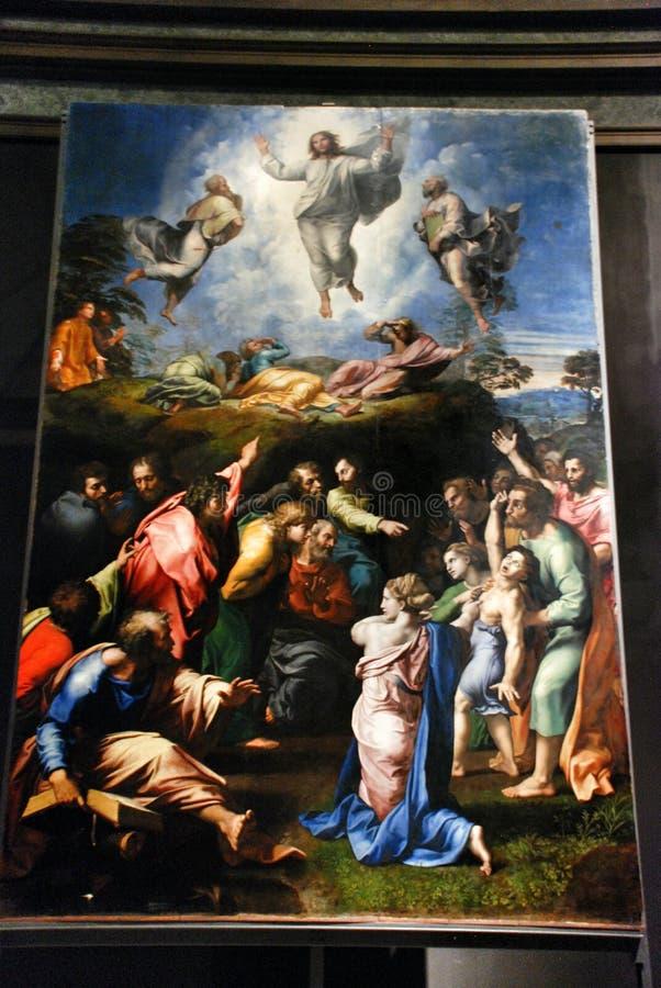 O museu de Vatican retrato jesus fotos de stock