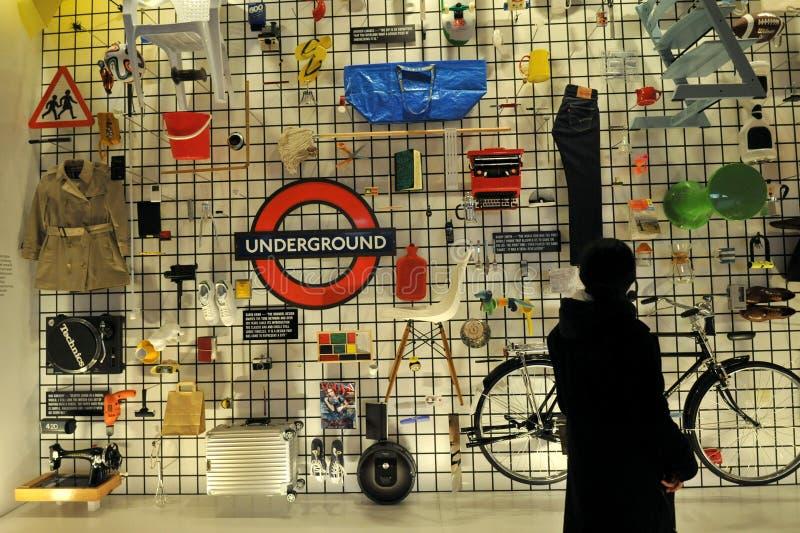 O Museu do Design é um museu em Kensington, Londres, que abrange produtos, indústrias, gráficos, moda e design arquitetônico fotos de stock royalty free