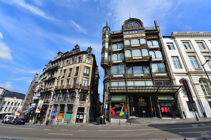 O museu do instrumento musical (MIM) em Bruxelas central imagens de stock