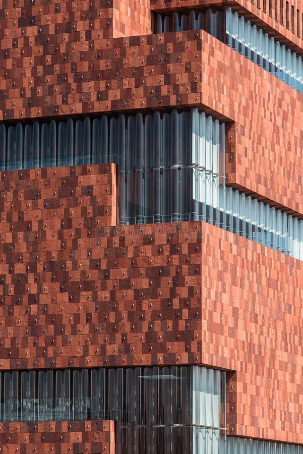 O museu do MAS, Antuérpia, Bélgica fotos de stock royalty free