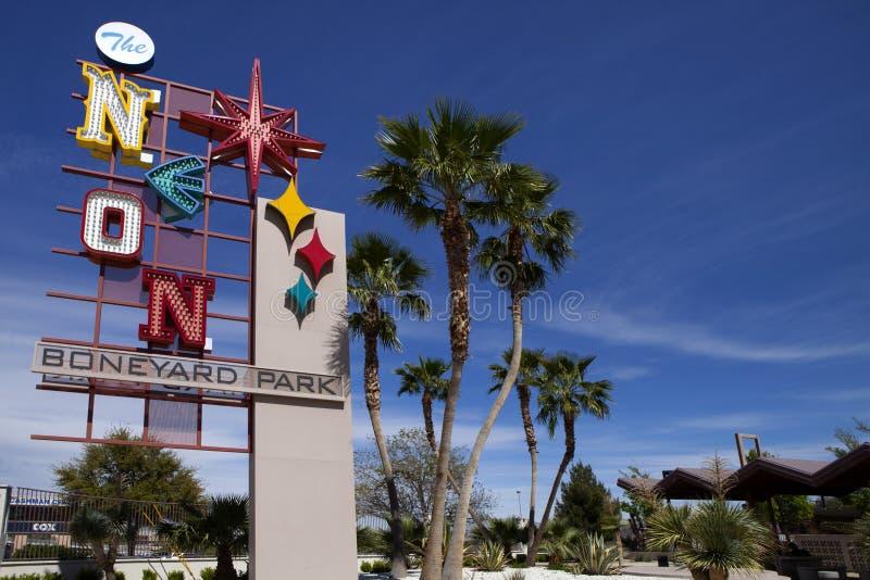 O museu do sinal de néon em Las Vegas, Nevada foto de stock royalty free