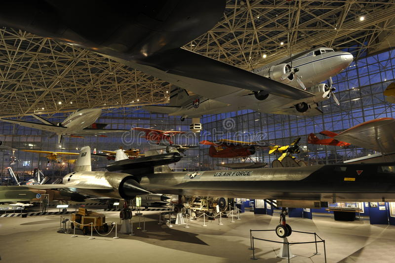 O museu do vôo, Seattle fotos de stock