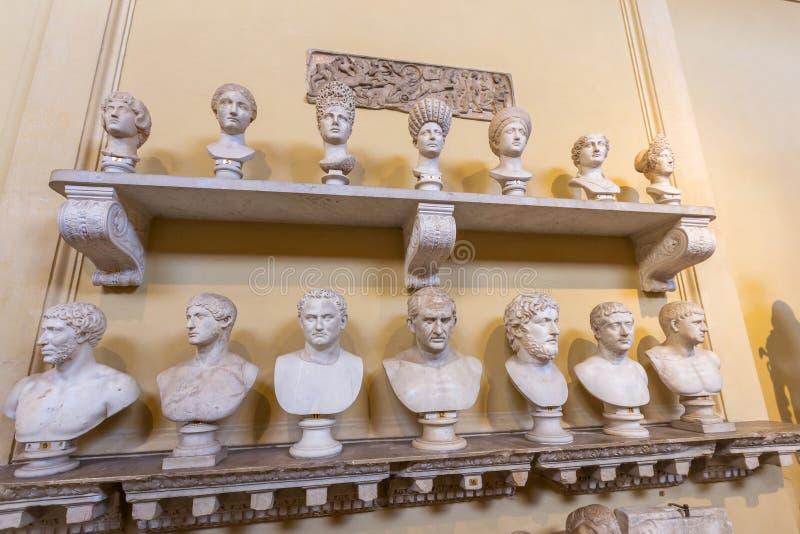 O museu do Vaticano em Roma, Itália fotos de stock