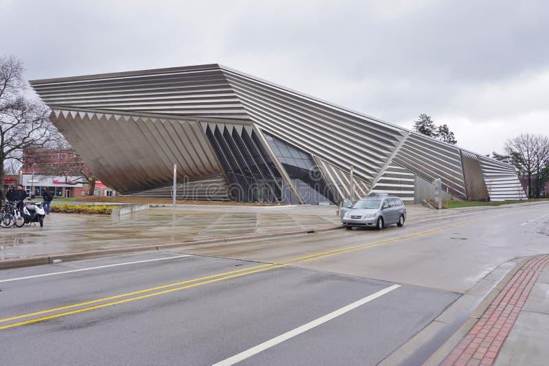 O museu largo na universidade de estado do Michigan foto de stock royalty free