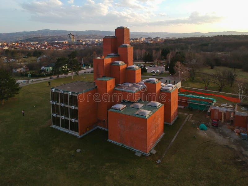 O museu na cidade de Kragujevac imagem de stock royalty free