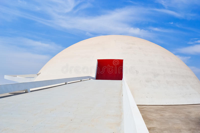 O Museu Nacional de Brasília foto de stock