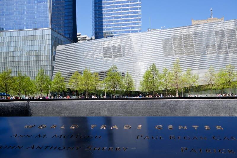 O museu nacional do memorial do 11 de setembro fotos de stock