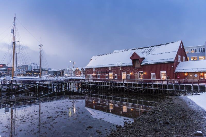 O museu polar Tromsø fotos de stock royalty free