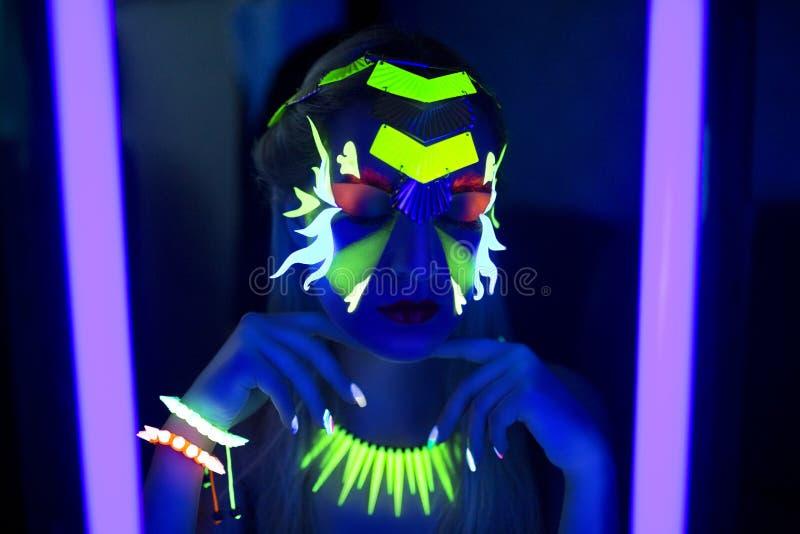 O néon compõe fotografia de stock