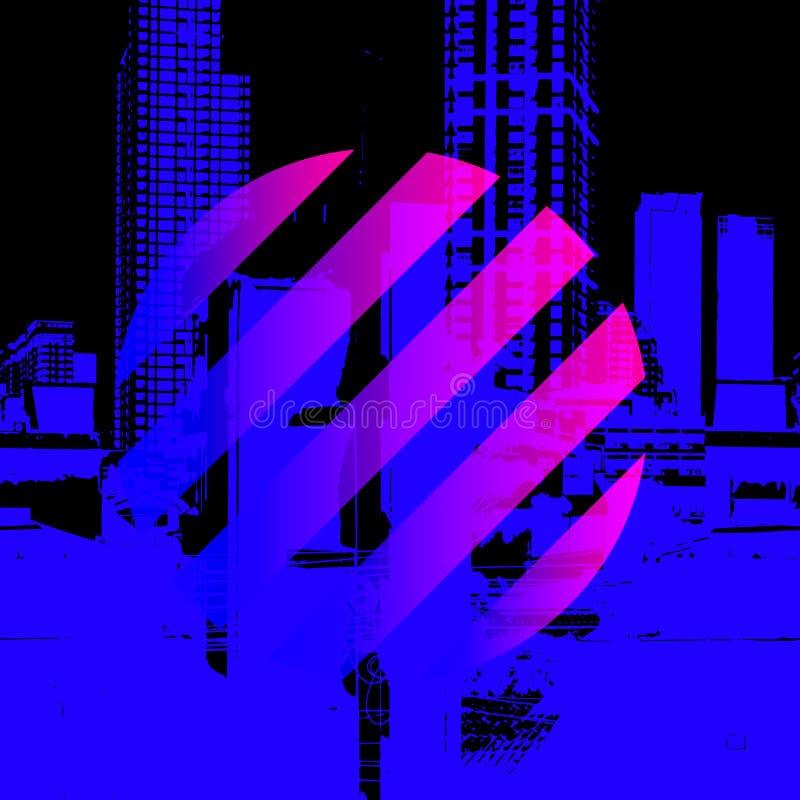 O néon do vetor colore o molde para o projeto ilustração do vetor