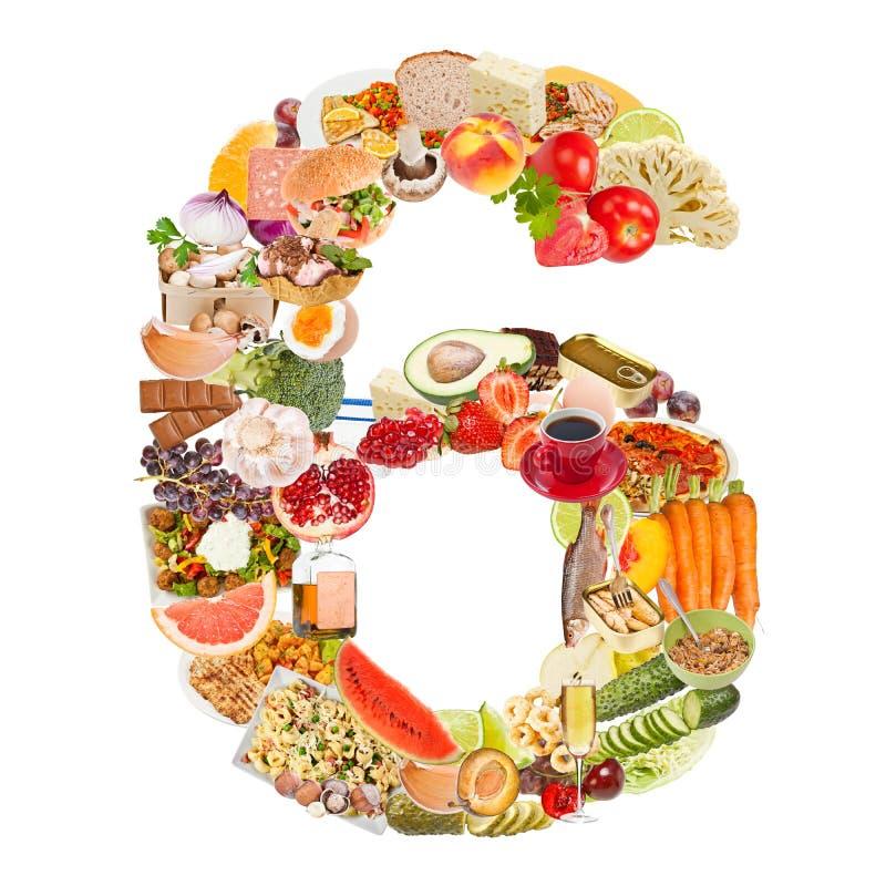Download O número 6 fêz do alimento foto de stock. Imagem de saudável - 26501290
