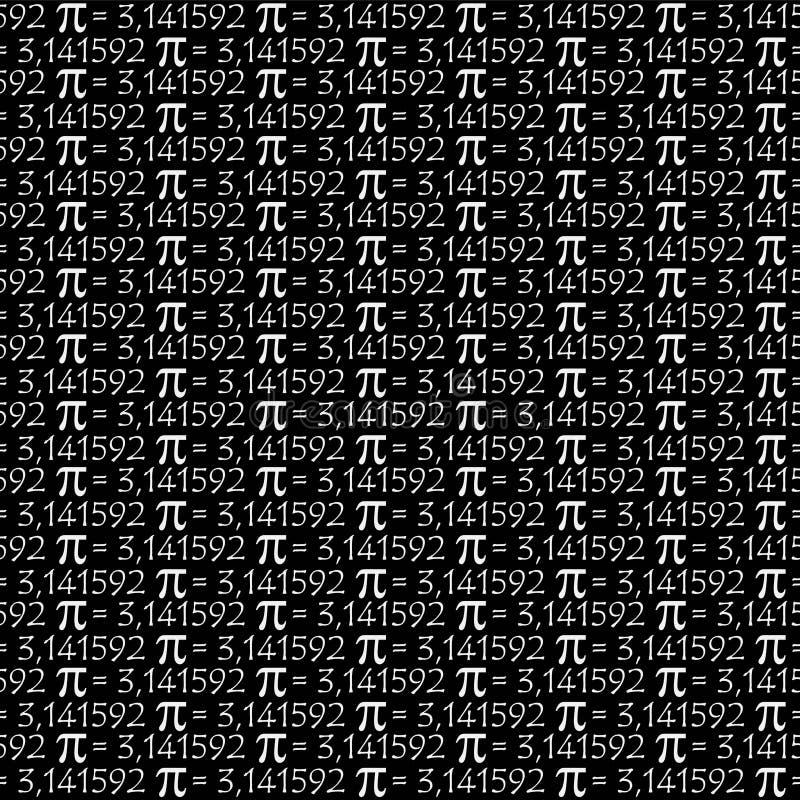 O número irracional de constante matemática do símbolo do pi, fundo grego do teste padrão da letra ilustração do vetor