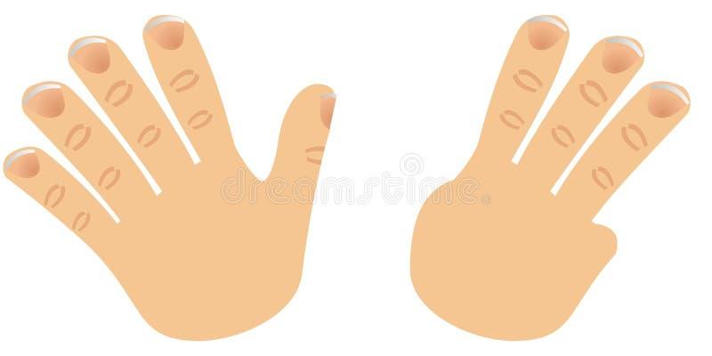 O número oito fêz com dedos ilustração do vetor