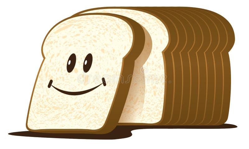 O naco do corte de pão ilustração royalty free