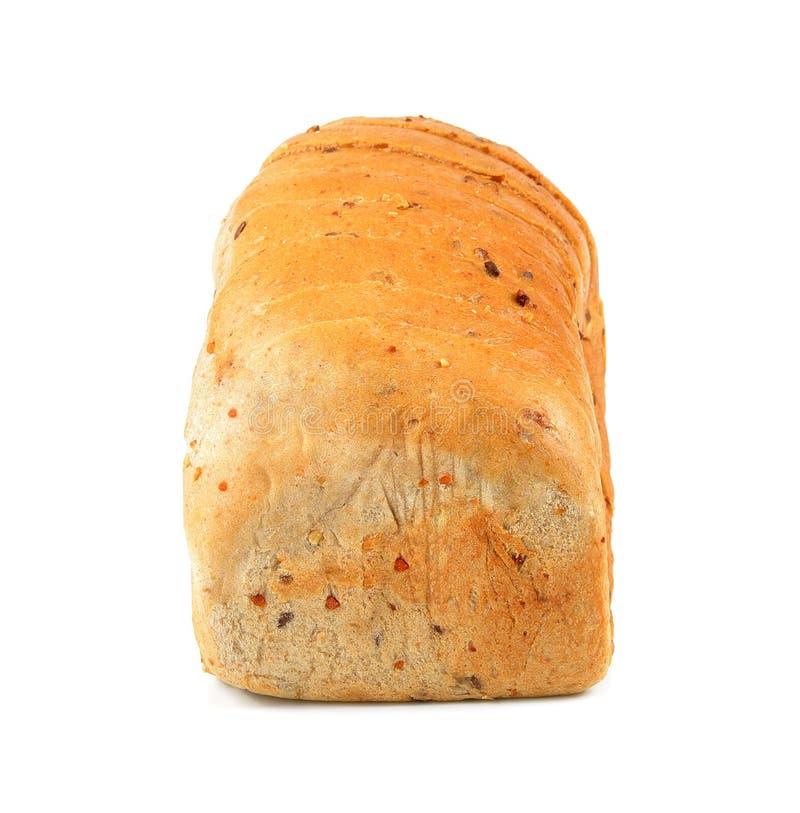 O naco do corte de pão no branco imagem de stock royalty free