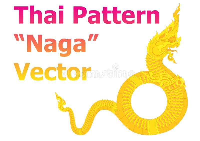 O naga tailandês do teste padrão detalha o vetor imagem de stock royalty free