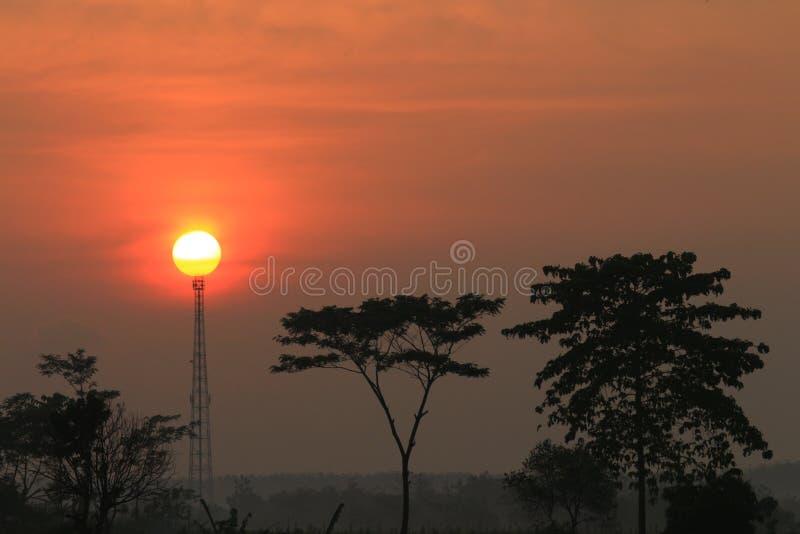 O nascer do sol fotos de stock
