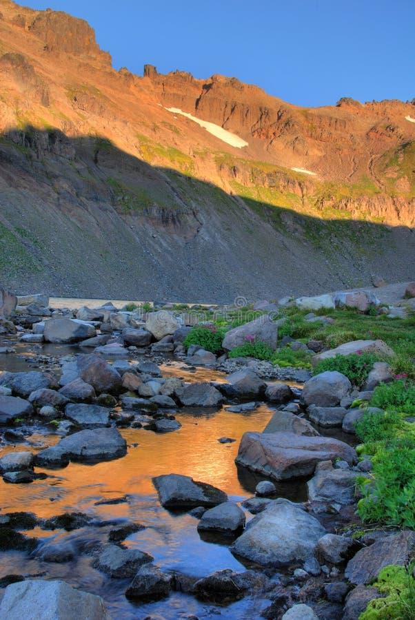 O nascer do sol, cabra balanç a região selvagem, estado de Washington foto de stock royalty free