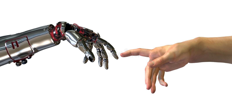 O nascimento da inteligência artificial ilustração do vetor