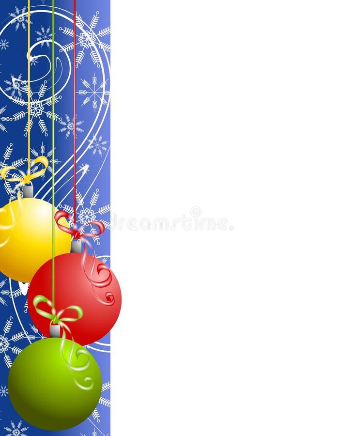 O Natal azul Ornaments a beira ilustração stock