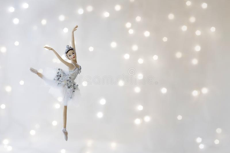 O Natal brinca a bailarina fotografia de stock royalty free