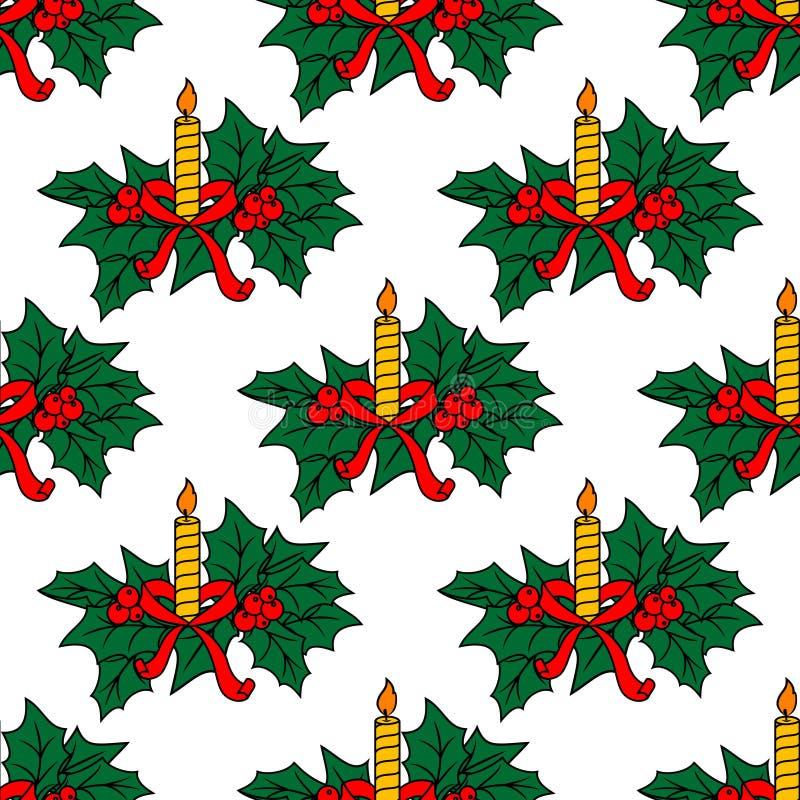 O Natal candles o teste padrão sem emenda ilustração do vetor