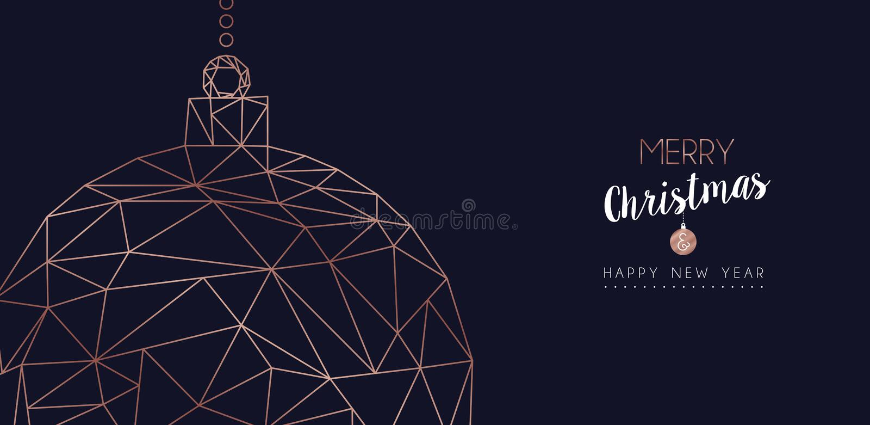 O Natal e o ano novo abstraem a bandeira da Web da quinquilharia ilustração royalty free