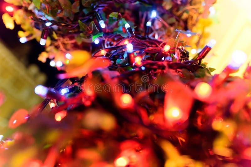 O Natal Multicoloured conduziu luzes fotografia de stock royalty free
