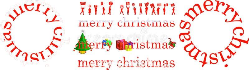 O Natal Nomeia A Ilustração Foto De Stock Grátis