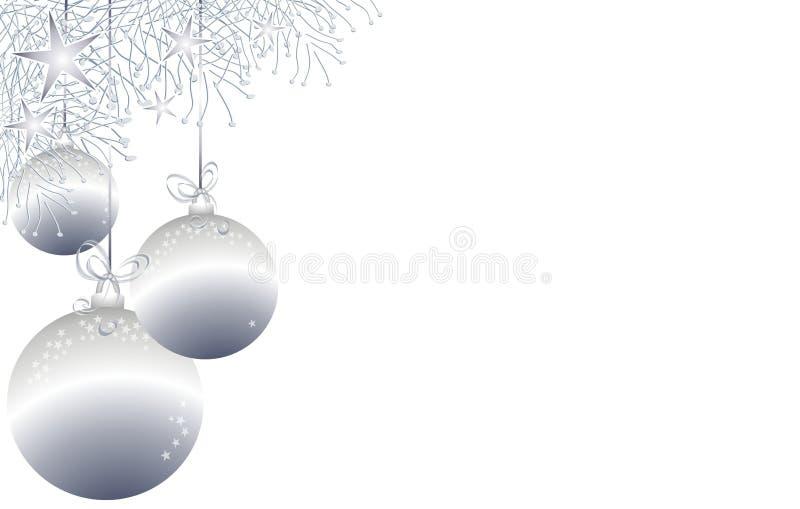 O Natal Ornaments a beira 3 ilustração do vetor