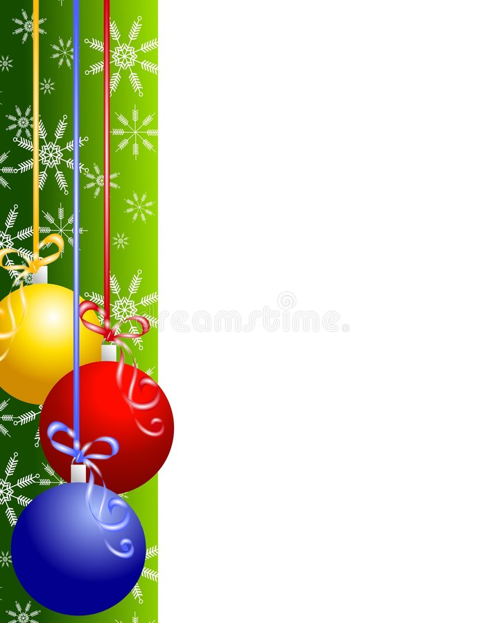 O Natal Ornaments a beira ilustração stock