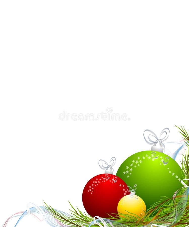 O Natal Ornaments a beira de canto ilustração royalty free