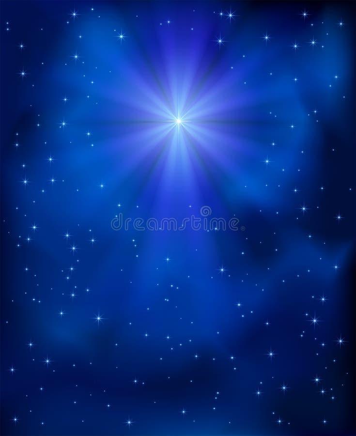 O Natal protagoniza no céu ilustração stock