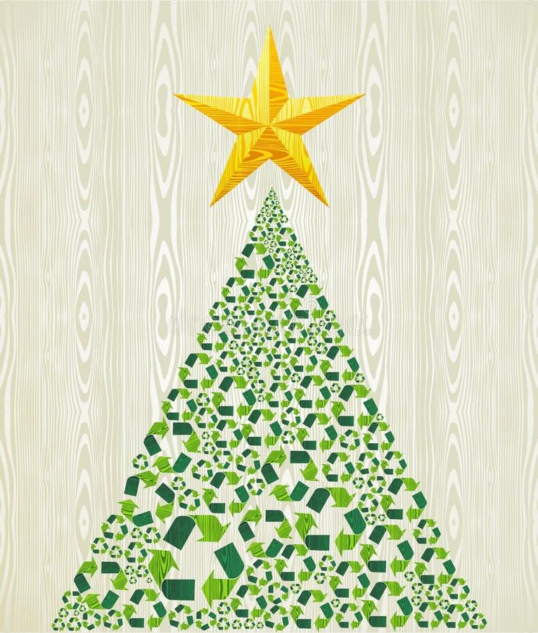 O Natal recicl a árvore de pinho ilustração do vetor