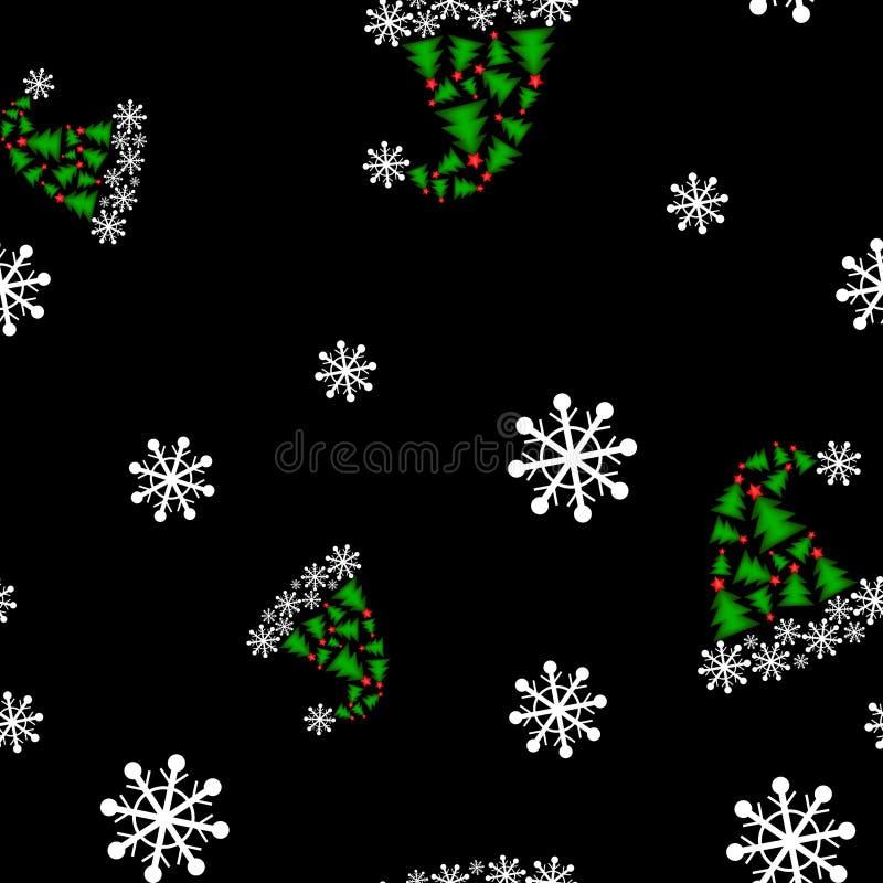 O Natal Santa tampa o teste padrão sem emenda ilustração do vetor