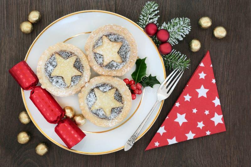 O Natal tritura galdérias da torta fotografia de stock royalty free