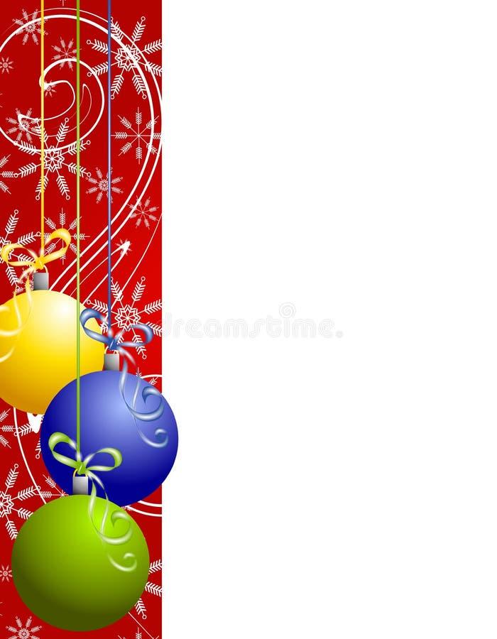 O Natal vermelho Ornaments a beira ilustração do vetor