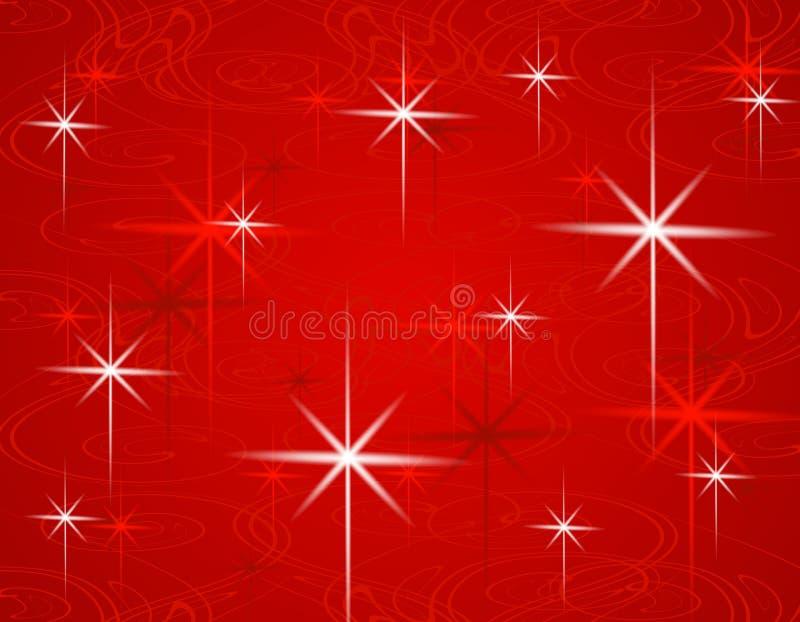 O Natal vermelho Stars o fundo ilustração stock